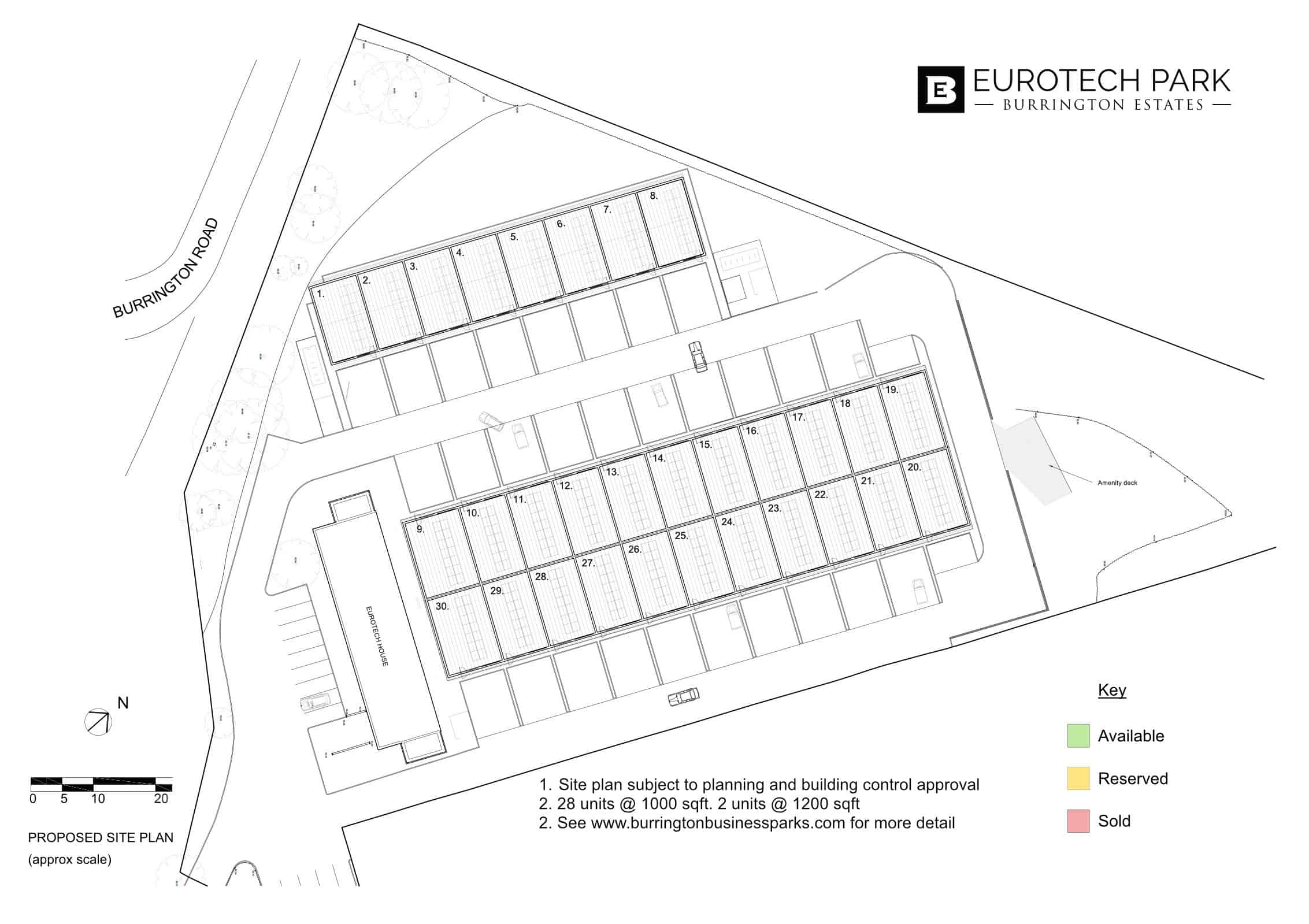 Eurotech Park site plan for Draw Attention availability