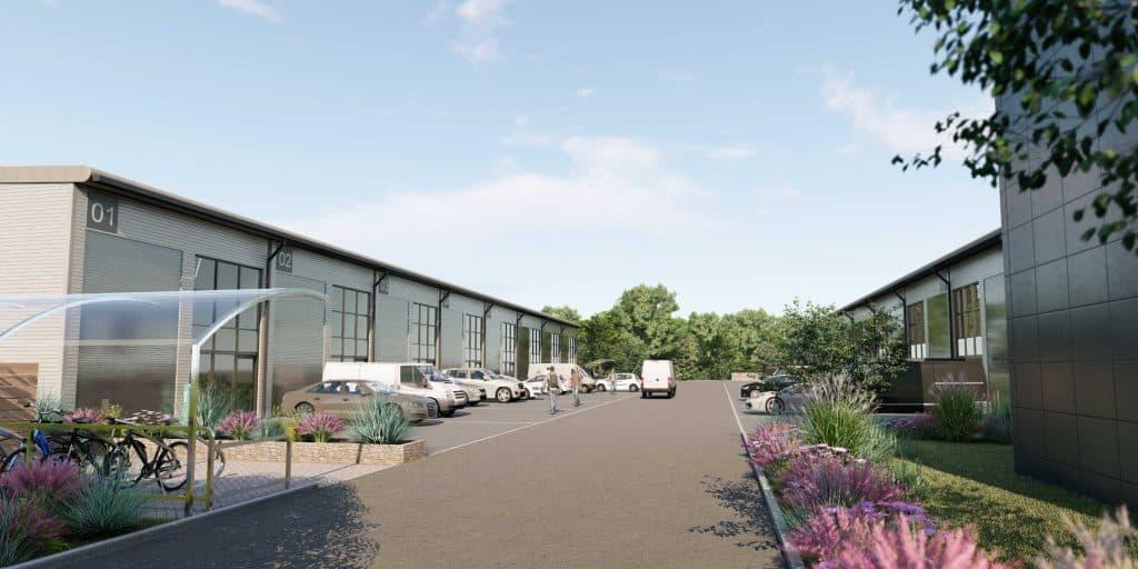 Eurotech Park, Burrington Business Parks, frontage of units