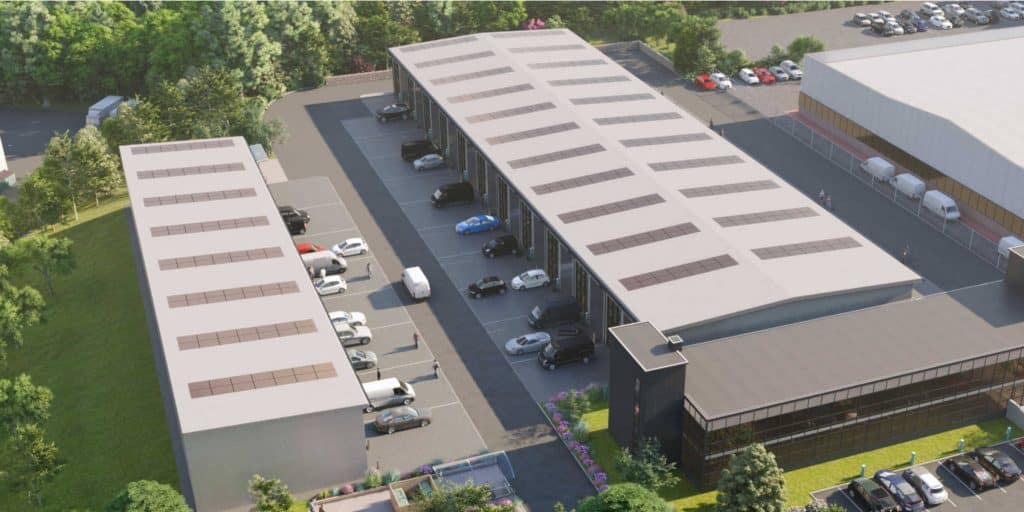 Burrington Business Parks aerial view